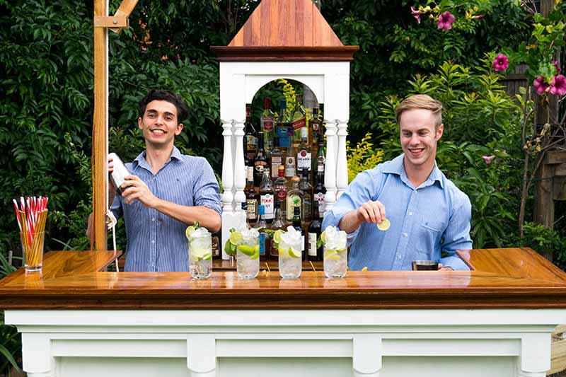 Mobile Bar in Backyard